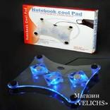 Охлаждающая подставка для ноутбука с подсветкой Laptor cooler LSY-639 photo 1