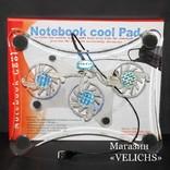 Охлаждающая подставка для ноутбука с подсветкой Laptor cooler LSY-639 photo 3