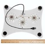 Охлаждающая подставка для ноутбука с подсветкой Laptor cooler LSY-639 photo 4