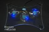 Охлаждающая подставка для ноутбука с подсветкой Laptor cooler LSY-639 photo 6