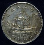 Канада Ньюфаундленд доллар 1949 Unc серебро