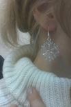Серьги снежинки. Новый год. Зима., фото №3