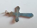 Крестик нательный серебро 925 проба., фото №5