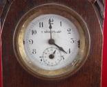 Настольные часы будильник «Г. Мозеръ и К», механизм (LENZKIRON). photo 2
