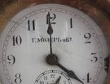 Настольные часы будильник «Г. Мозеръ и К», механизм (LENZKIRON). photo 7
