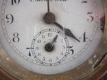 Настольные часы будильник «Г. Мозеръ и К», механизм (LENZKIRON). photo 8