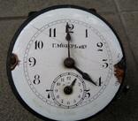 Настольные часы будильник «Г. Мозеръ и К», механизм (LENZKIRON). photo 9