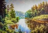 """Картина """" ЛІтні мотиви """" полотно /олія розм 50х70см"""