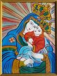 Икона на стекле авт.О.ковальчук Почаевская Богородица
