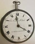Необычные старинные карманные часы NikolausHiltel A. Ratisbonne