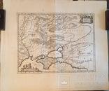 """Карта """"Таврія Херсонеська..."""" 1680 рік. Видання Янссон/Пітт Мозес"""