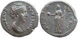 Денарий Diva Фаустина I 141 г н.э. (25_5)