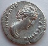 Денарий Diva Фаустина I 141 г н.э. (25_5) фото 4