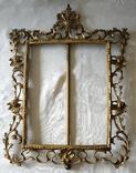 Больше бронзовая рамка под фото или зеркало