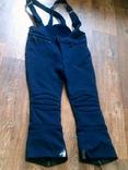 Теплые эластичные штаны на шлейках разм.44