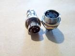 Позолоченный разъем (гнездо + штекер) 4 pin