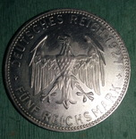 Германия, Веймарская респ. , Тюбинген, 5 марок 1927 г. RR, фото №4