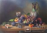 Десерт с фруктами. Холст, масло. 50*70. 2018г. Прокопчук М.