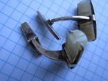 Запонка серебро 875пр. звезда ОСЮ +нат.камень 9,88г., фото №5