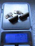 Запонка серебро 875пр. звезда 1АС +нат.камень 10,27г., фото №2
