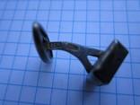 Запонка серебро 875пр. голова 2С4 +нат.камень 7,47г., фото №8