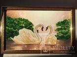 Лебеди вышивка бисером