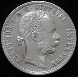 1 флорин 1879 року Австро-Угорщина, австрійський тип, срібло