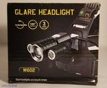 Фонaрь налобный POLICE WD-327 (T6 Zoom+2 LED, 2х18650)