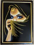 Восточная Принцесса , шелк на подрамнике, багет 53х72