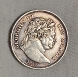 1/2 кроны 1817 Георг III Бычья Шея