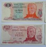1, 10, 100, 500 Pesos Аргентина. photo 2
