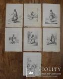 Эскизы тушью к гравюрам? середина 18 века. Жан Батист Лепренс, фото №2