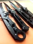 4 ножа с прищепкой предохранителем