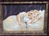 Старая картина.Спящая девочка photo 3