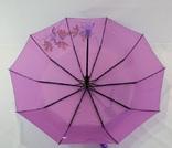 Женский зонт хамелеон c узором.