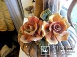 """Фарфоровый большой кувшин """"Bassano"""" """"Букет роз""""  Италия, фото №3"""