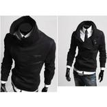 Толстовка куртка мужская теплая (Черный)