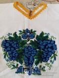 Сорочка вишита старовиним круглим бісером на домотканому полотні, фото №5