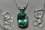 Золотое ожерелье с натуральным изумрудом, фото №3