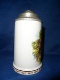 Коллекционная пивная кружка фарфор ГДР Фазаны photo 3