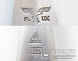 III REICH вилка Люфтваффе Luftwaffe 1940 года алюминий., фото №10