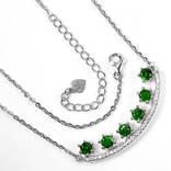 Ожерелье с натуральными хромдиопсидами, фото №4