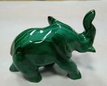 Слон из малахита. Натуральный малахит., фото №4