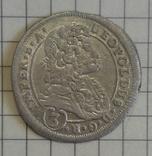 3 крейцери 1697р. Леопольда (Богемія)(СК)