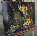 """""""Соняшники"""" 40х50 см;полотно,олія,Півень С.В. photo 2"""