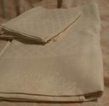 Набор СССР скатерть камчатная и 6 салфеток белые новые цена 11р-2