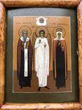 """Икона """"Священномученик Антипа,Ангел Хранитель,Священномученица Параскева"""", фото №5"""