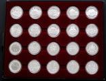 Полный Набор 100 Шиллингов 1991-2001 + Две 200 Шиллинговые Биметаллические Монеты, Австрия