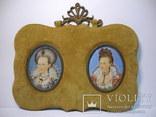 """183. Два миниатюрных портрета """"Мария Бельгийская, последняя королева Италии"""""""