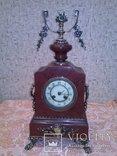 Часы каминные,мрамор ,бронза . Конец 19 века